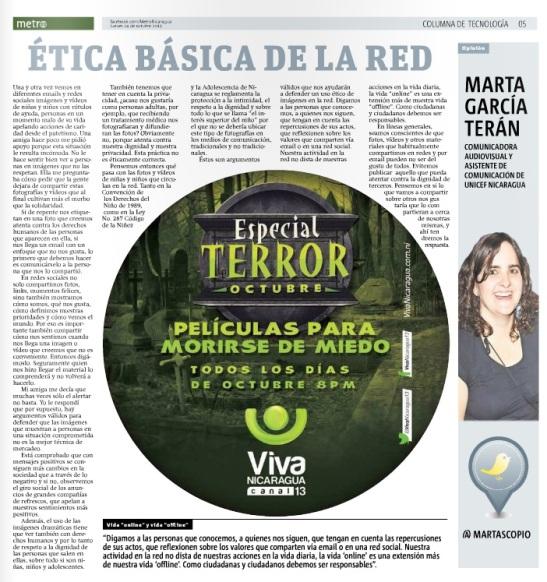 Ética básica en la red por Marta G. Terán