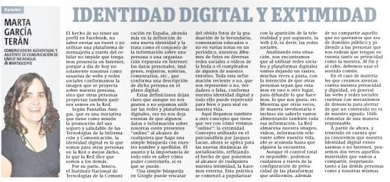 Identidad digital y extimidad por Marta G. Terán