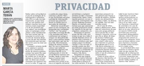 Privacidad por Marta G. Terán