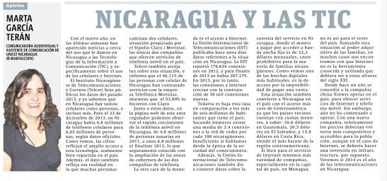 013. Nicaragua y TIC