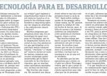 Tecnologia para el desarrollo humano por Marta G. Terán