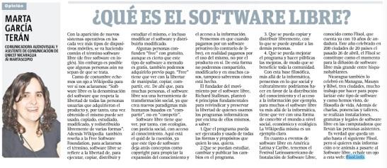¿Qué es el software libre? por Marta G. Terán