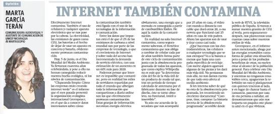 Internet también contamina por Marta G. Terán