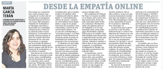 Desde la empatia online por Marta García Terán