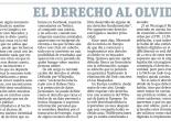 El derecho al olvido, por Marta García Terán