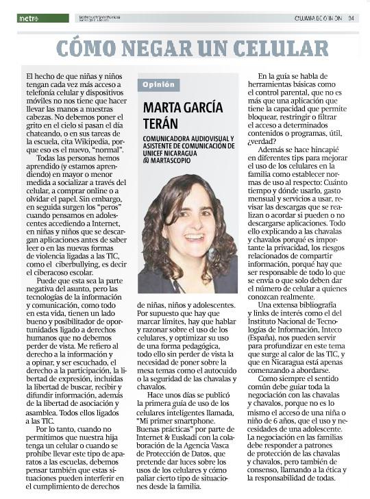 Cómo negar un celular por Marta García Terán