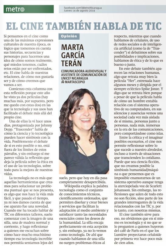 El cine también habla de TIC por Marta García Terán