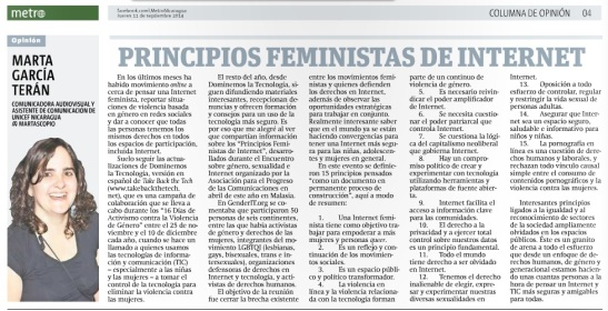 Principios feministas de Internet, por Marta García Terán
