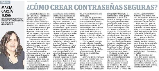 Cómo crear contraseñas seguras, por Marta García Terán
