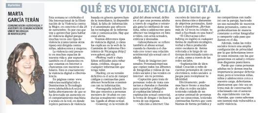 Qué es violencia digital, por Marta García Terán