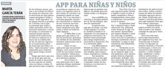 App para niñas y niños, por Marta García Terán