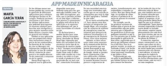 App made in Nicaragua, por Marta García Terán