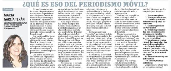 Qué es eso del periodismo móvil, por Marta García Terán