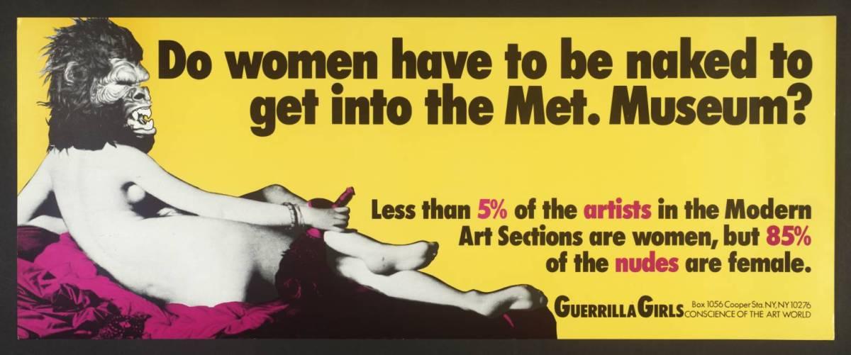 Guerrilla girls: por un arte feminista