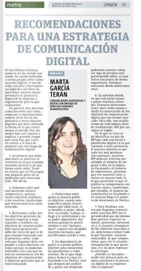 7 recomendaciones para una estrategia de comunicación digital, por Marta García Terán