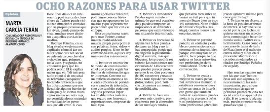 8 razones para usar Twitter, por Marta García Terán