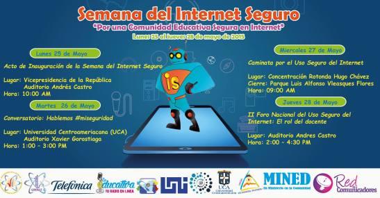 Actividades de la Semana del Internet Seguro en Nicaragua.