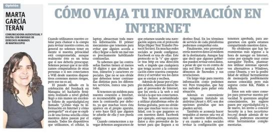 Cómo viaja tu información en Internet, por Marta García Terán