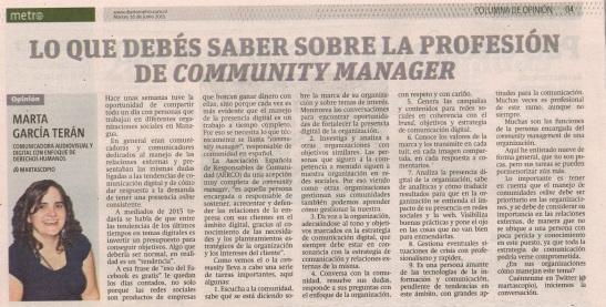 Lo que debes saber sobre la profesión de community manager, por Marta García Terán