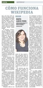 Cómo funciona Wikipedia, por Marta García Terán
