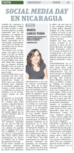 Social Media Day en Nicaragua, por Marta García Terán
