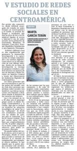 V Estudio de redes sociales en Centroamérica y el Caribe, por Marta García Terán