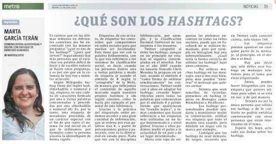 Qué son los hashtag, por Marta García Terán