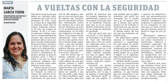 A vueltas con la seguridad, por Marta García Terán