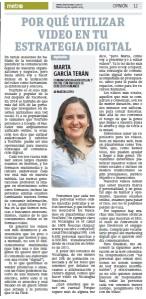 Por qué utilizar vídeo en tu estrategia digital, por Marta García Terán