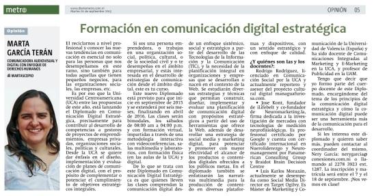 Formación en comunicacion digital estrategica, por Marta García Terán