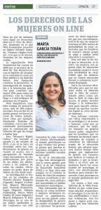 Los derechos de las mujeres online, por Marta García Terán