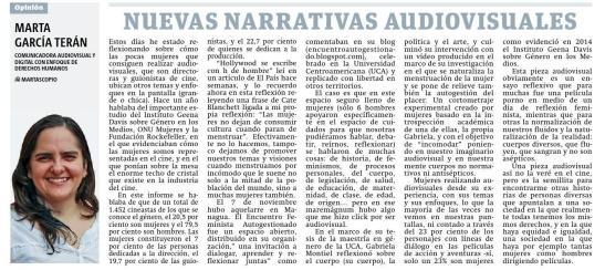 Nuevas narrativas audiovisuales, por Marta García Terán
