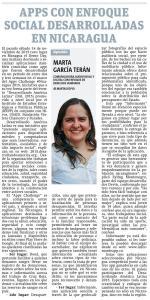 App enfoque social desarrolladas en Nicaragua, por Marta García Terán