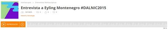 Escucha la entrevista a Eyling Montenegro #DALNIC2015