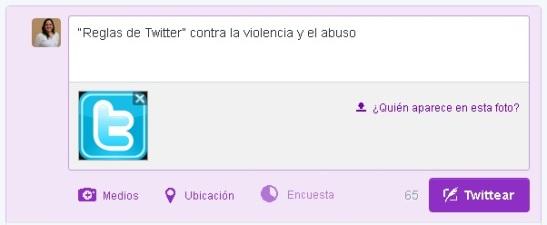 Reglas de Twitter contra la violencia