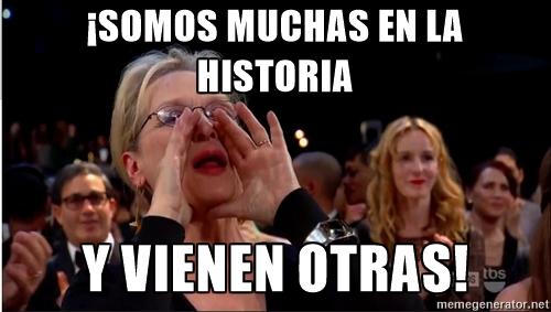 49 mujeres, frente a 833 hombres han recibido el premio Nobel desde 1901.- Meme realizado durante el taller ¡Ideay! La Tecnología es cosa de mujeres, durante el FemHack 2016 en Managua.